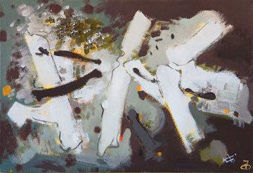 Composition T 2007 24x35 Original Painting by Viktor Chernilevsky