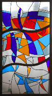 Stained Glass Window Unique 2007 70x36 Super Huge  Other by Viktor Chernilevsky - 0