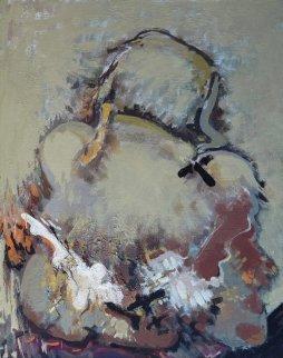 Untitled Painting 2010 17x19 Original Painting - Viktor Chernilevsky