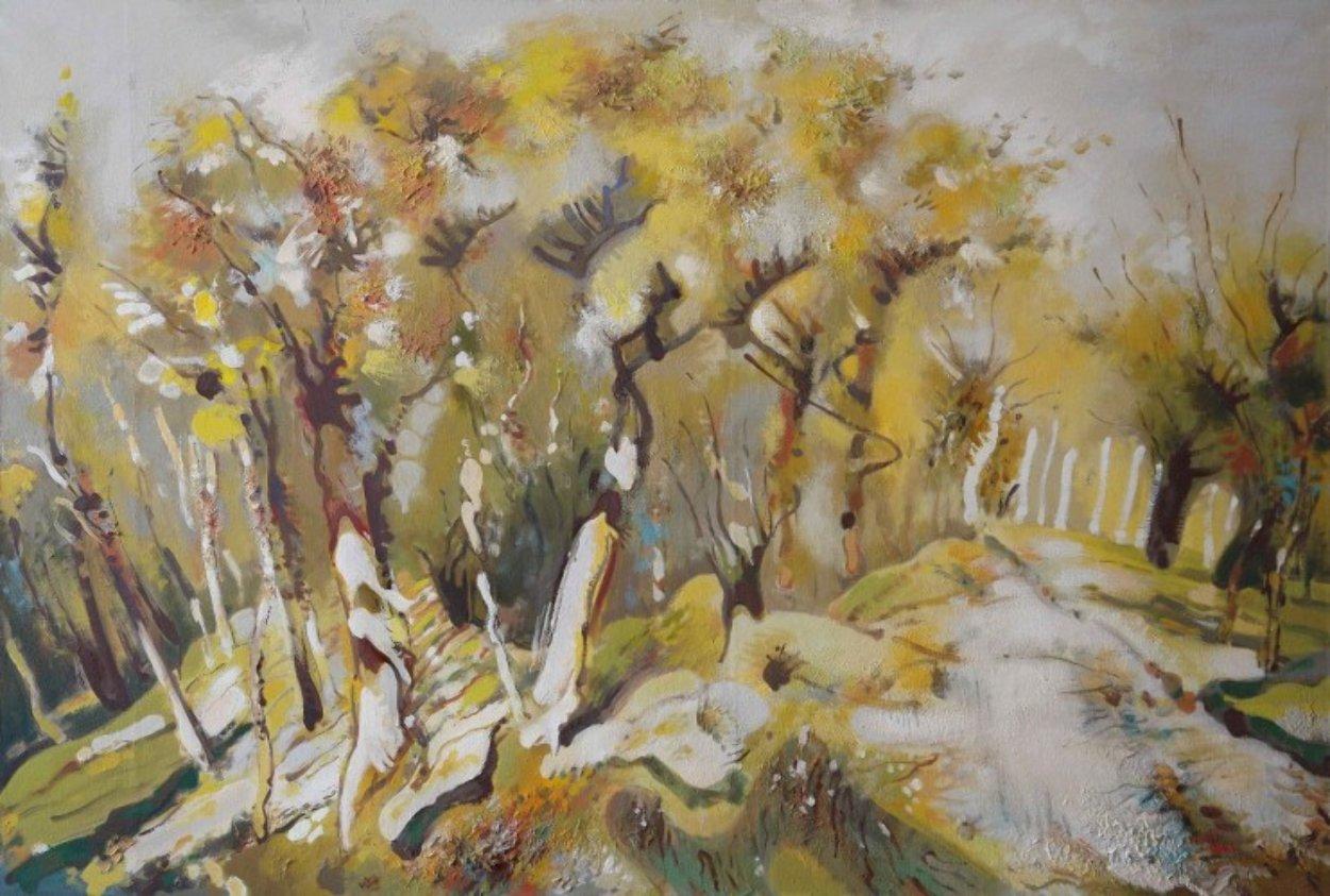 Autumn Alley 51x76 Super Huge Original Painting by Viktor Chernilevsky