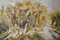 Autumn Alley 51x76 Super Huge Original Painting by Viktor Chernilevsky - 0