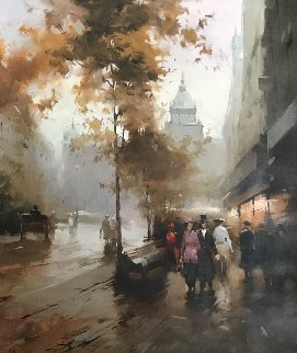 Street 2005 27x23 Original Painting - Andrej Chernysh