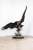 On the Wings of an Eagle Bronze Sculpture 1991 54 in Sculpture by Chester Fields - 2