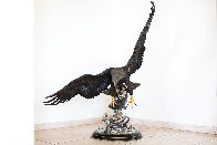 On the Wings of an Eagle Bronze Sculpture 1991 54 in Sculpture by Chester Fields - 22