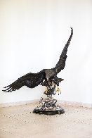 On the Wings of an Eagle Bronze Sculpture 1991 54 in Sculpture by Chester Fields - 23