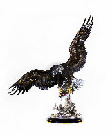 On the Wings of an Eagle Bronze Sculpture 1991 54 in Sculpture by Chester Fields - 0