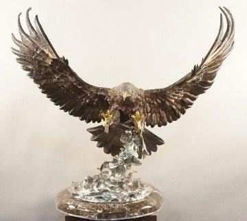 Attack Bronze Sculpture 1986 Sculpture by Chester Fields