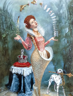 Magica Lesson 2016 26x34 Original Painting - Michael Cheval