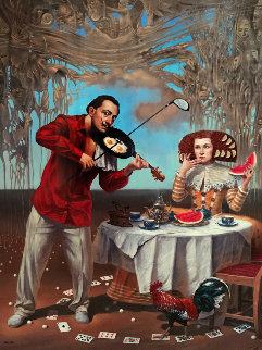 Breakfast with Humpy-dumpty 2015 Limited Edition Print by Michael Cheval