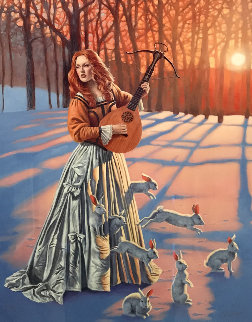 Love Hunter II AP 2015 Limited Edition Print by Michael Cheval