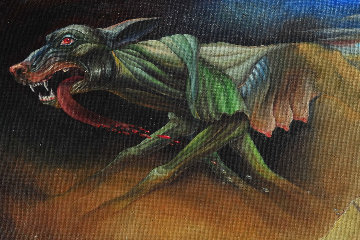 Getaway 1992 24x10 Original Painting by Michael Cheval