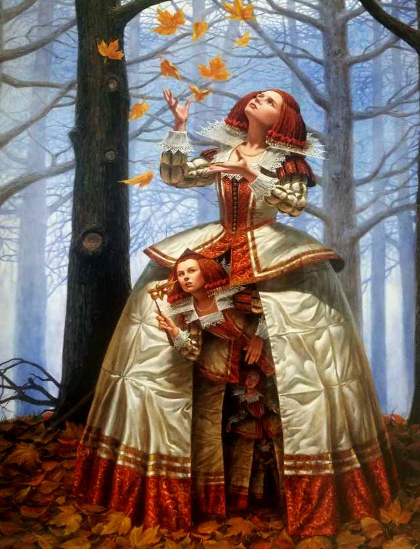 Enigma 2016 Embellished Limited Edition Print by Michael Cheval