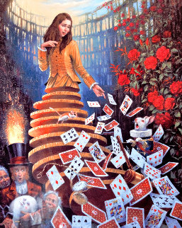 Nothing But a Pack of Cards 2017 Limited Edition Print - Michael Cheval