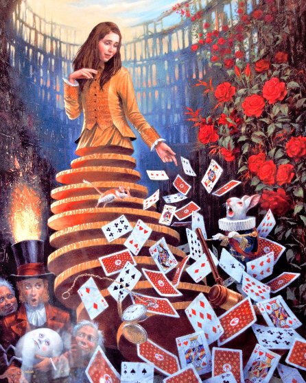 Nothing But a Pack of Cards 2017 Limited Edition Print by Michael Cheval