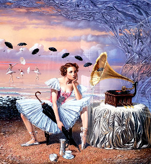 Melody of Rain 2015 Limited Edition Print by Michael Cheval