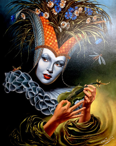 Midsummer Chirr Limited Edition Print by Michael Cheval