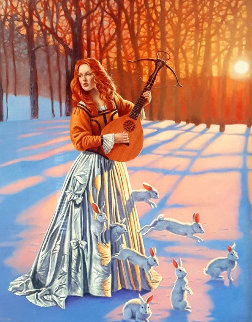 Love Hunter II 2015 Limited Edition Print by Michael Cheval