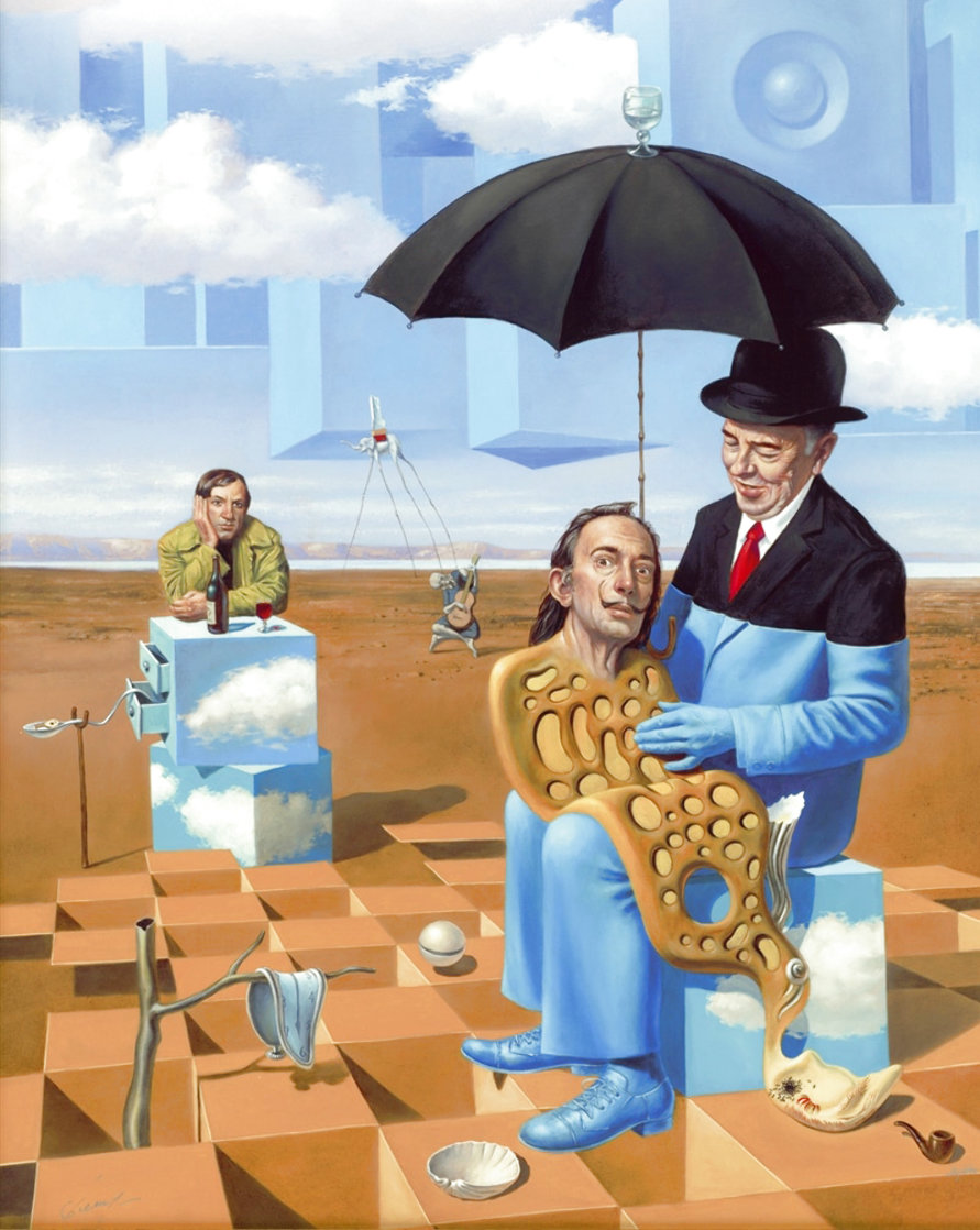 Lullaby of Uncle Magritte 2016 Limited Edition Print by Michael Cheval