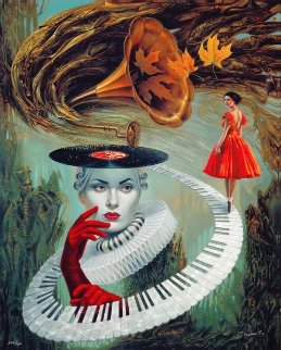 Sounding Silence 2017 Limited Edition Print - Michael Cheval