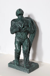 Angel With Heart Bronze Sculpture 22 in Sculpture - Sandro Chia
