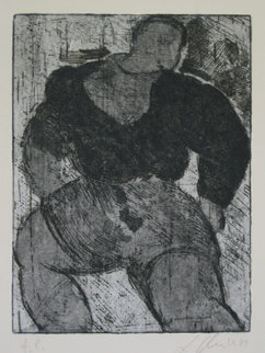 Untitled Lithograph 1987 Limited Edition Print by Sandro Chia
