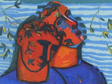 Scena D'affetto 1997 Limited Edition Print - Sandro Chia
