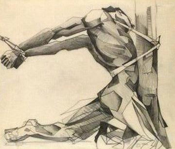 Mans Inhumanity 1977 13x16 Drawing - Charles Bragg (Chick Bragg)