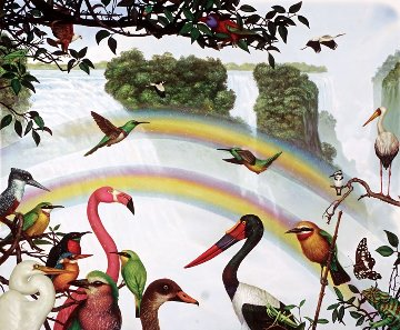 Victoria Falls 1990 Limited Edition Print - Charles Bragg (Chick Bragg)