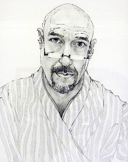 Self Portrait in Tokyo Drawing 22x19 Drawing by Charles Bragg (Chick Bragg)