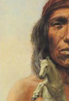 Geronimo's Horse Original Painting - Charles Bragg (Chick Bragg)