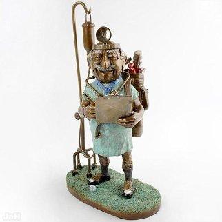 Dr. Putts Bronze Sculpture Sculpture - Charles Bragg (Chick Bragg)