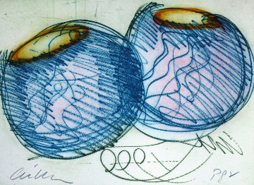 Blue Baskets PP 1999 Limited Edition Print by Dale Chihuly