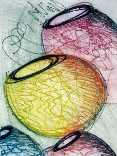 Four Vertical Baskets PP 1999 Limited Edition Print - Dale Chihuly