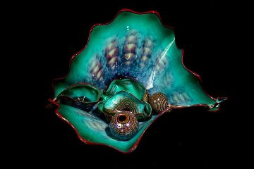Teal Persian Glass 6 Piece Sculpture 1993 24 in Sculpture by Dale Chihuly