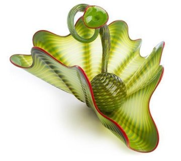 Parrot Green Unique Two-piece Unique Glass Persian Set  2001 Sculpture by Dale Chihuly