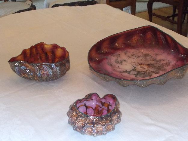 Seaform Set of 3 unique Glass Sculptures 1984 Sculpture by Dale Chihuly