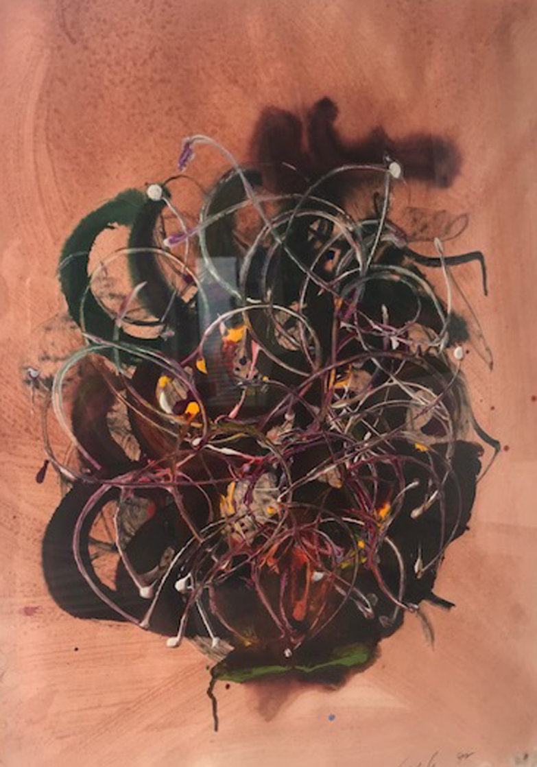 Untitled Painting 1992 41x33 Super Huge Original Painting by Dale Chihuly