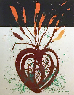 Red Flaming Heart Ikebana Limited Edition Print - Dale Chihuly