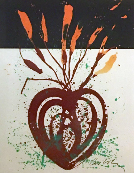 Red Flaming Heart Ikebana Limited Edition Print by Dale Chihuly
