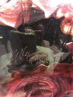 Alizarin Crimson Macchia With Viridian Lip Wrap Glass Sculpture 1983 28 in  Sculpture by Dale Chihuly - 3