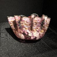 Alizarin Crimson Macchia With Viridian Lip Wrap Glass Sculpture 1983 28 in  Sculpture by Dale Chihuly - 2