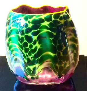 Chihuly Green Glass Unique Sculpture: Macchia Series 2005 8 in  Sculpture by Dale Chihuly