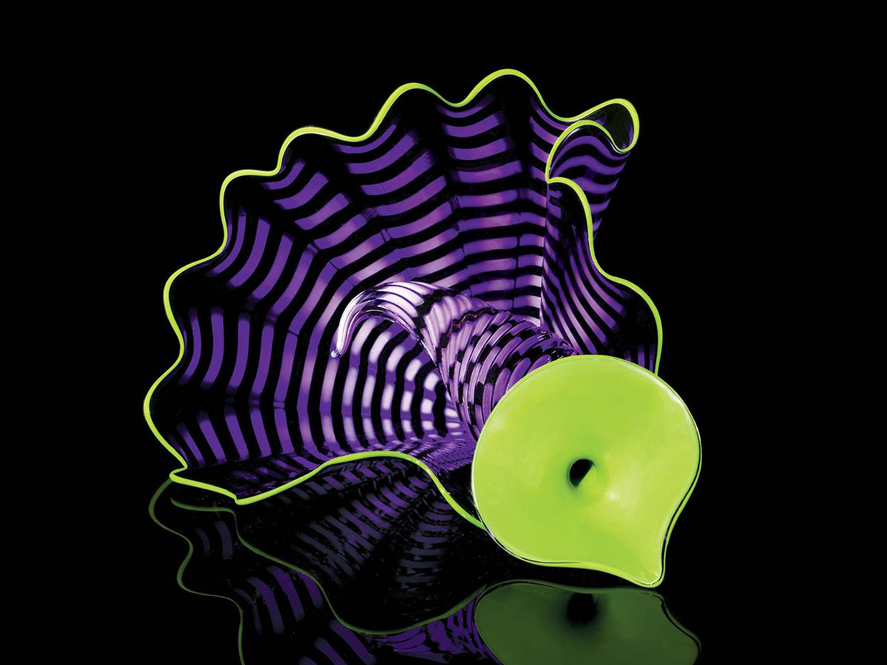 Violet Persian Pair Glass Sculpture 2012 12 in Sculpture by Dale Chihuly