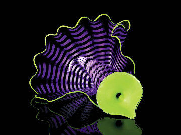 Violet Persian Pair Glass Sculpture 2012 12 in Sculpture - Dale Chihuly