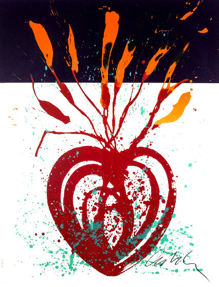 Red Flaming Heart Ikebana 2000 Limited Edition Print by Dale Chihuly