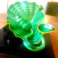 Celtic Emerald Persian Pair (Studio Edition Glass) 2007 Sculpture by Dale Chihuly - 0
