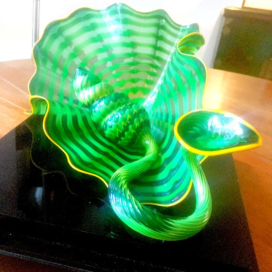 Celtic Emerald Persian Pair (Studio Edition Glass) 2007 Sculpture by Dale Chihuly