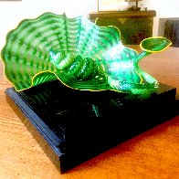 Celtic Emerald Persian Pair (Studio Edition Glass) 2007 Sculpture by Dale Chihuly - 3