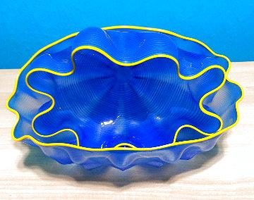 Larkspur Seafoam Pair Glass Sculpture Unique 2000 11 in Sculpture - Dale Chihuly
