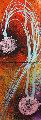 Ikebana Doppio 1998 60x42 Original Painting - Dale Chihuly